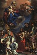 Giovanni Francesco  Guercino Virgin and Child with the Patron Saints of Modena oil painting picture wholesale