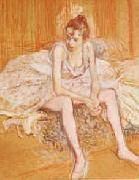 Henri  Toulouse-Lautrec Dancer Seated Sweden oil painting reproduction