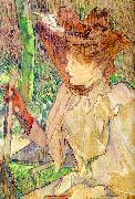Henri  Toulouse-Lautrec Honorine Platzer (Woman with Gloves) Sweden oil painting reproduction
