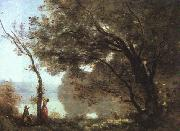 Jean Baptiste Camille  Corot Souvenier de Mortefontaine, salon of 1864 oil painting picture wholesale
