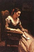 Jean Baptiste Camille  Corot The Letter_3 oil painting picture wholesale