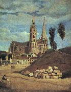 Jean Baptiste Camille  Corot Chartres Cathedral oil painting picture wholesale