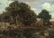 Jean Baptiste Camille  Corot Forest of Fontainebleau oil painting picture wholesale