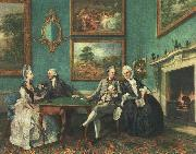 Johann Zoffany The Dutton Family oil