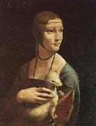 Leonardo  Da Vinci Portrait of Cecilia Gallarani oil painting picture wholesale
