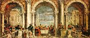 Paolo  Veronese Feast in the House of Levi oil painting artist