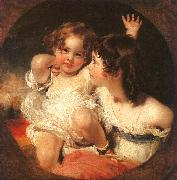 Sir Thomas Lawrence The Calmady Children oil painting artist