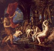 Titian Diana and Actaeon oil painting artist