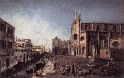 ALBOTTO  Francesco View of Campo Santi Giovanni e Paolo oil painting artist