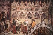 ALTICHIERO da Zevio Virgin Being Worshipped by Members of the Cavalli Family oil