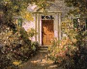 Abbott Fuller Graves Grandmother's Doorway oil
