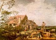 Abraham Bloemart Landscape with Peasants Resting oil