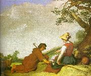 Abraham Bloemart Shepherd and Shepherdess oil