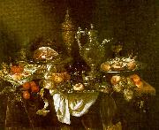 Abraham Hendrickz van Beyeren Banquet Still Life Sweden oil painting reproduction