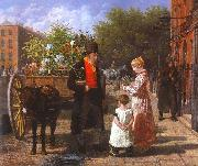 Agasse, Jacques-Laurent The Flower Seller oil