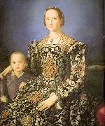 Agnolo Bronzino Eleanora di Toledo with her son Giovanni de' Medici oil painting picture wholesale