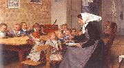 Albert Anker The Creche oil painting picture wholesale