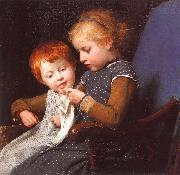 Albert Anker The Little Knitters oil painting picture wholesale