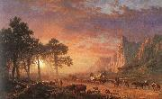 Albert Bierstadt The Oregon Trail oil painting picture wholesale