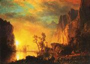 Albert Bierstadt Sunset in the  Rockies oil painting picture wholesale