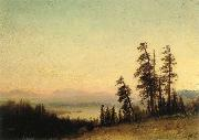 Albert Bierstadt Landscape with Deer oil painting picture wholesale