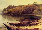 Albert Bierstadt Canoes oil painting picture wholesale