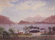 Albert Bierstadt Italian Lake Scene oil painting picture wholesale