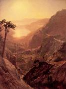 Albert Bierstadt View of Donner Lake, California oil painting picture wholesale