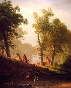Albert Bierstadt The Wolf River oil painting picture wholesale