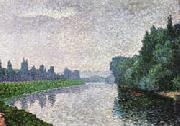 Albert Dubois-Pillet The Marne River at Dawn oil painting picture wholesale