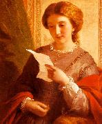 Alfred Chalon Girl Reading a Letter oil painting picture wholesale