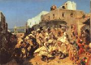 Alfred Dehodencq Blacks Dancing in Tangiers oil