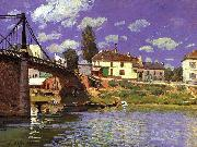 Alfred Sisley The Bridge at Villeneuve la Garenne oil