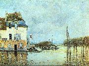 Alfred Sisley Flood at Pont-Marley oil painting picture wholesale