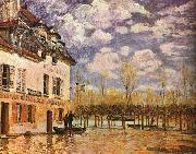 Alfred Sisley Boat During a Flood oil