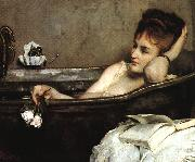 Alfred Stevens The Bath (san06) oil painting artist