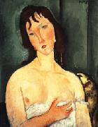 Amedeo Modigliani Portrait of a yound woman (Ragazza) oil painting picture wholesale