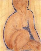 Amedeo Modigliani Crouched Nude oil painting picture wholesale