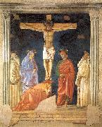 Andrea del Castagno Crucifixion and Saints oil