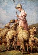 Anna Chamberlain Freeland Shepherdess oil