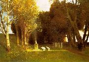 Arnold Bocklin The Sacred Wood oil