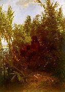 Arnold Bocklin Pan Amongst the Reeds oil
