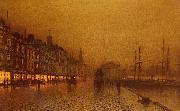 Atkinson Grimshaw Greenock Dock oil