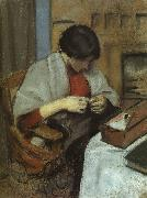 August Macke Elisabeth Gerhardt Sewing oil painting picture wholesale