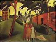August Macke 1913 Staatsgalerie Moderner Kunst, Munich oil painting picture wholesale