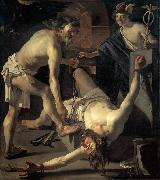 BABUREN, Dirck van Prometheus Being Chained by Vulcan oil