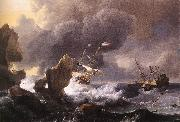 BACKHUYSEN, Ludolf Ships in Distress off a Rocky Coast oil painting picture wholesale