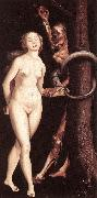 BALDUNG GRIEN, Hans Eve, the Serpent, and Death oil