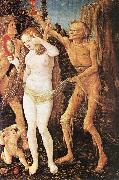 BALDUNG GRIEN, Hans Three Ages of the Woman and the Death  rt4 oil