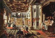 BASSEN, Bartholomeus van Renaissance Interior with Banqueters f oil painting picture wholesale